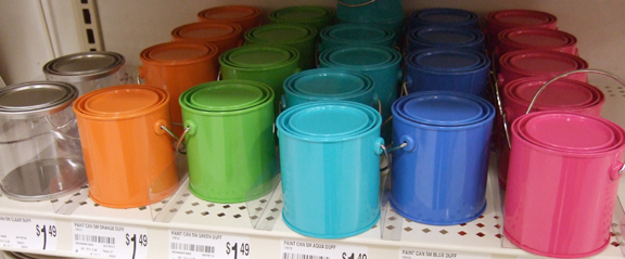 mini paint cans from Michaels