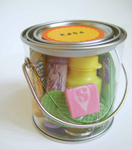 mini paint can party favor