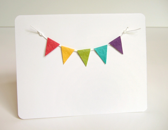 mini bunting party invitation