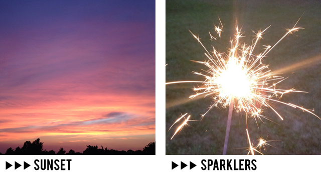 Instagram // sunset and sparklers