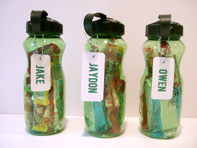 soccer birthday party water bottle favors