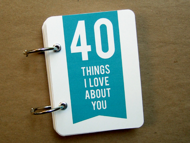 minibook - 40 Things I Love About You