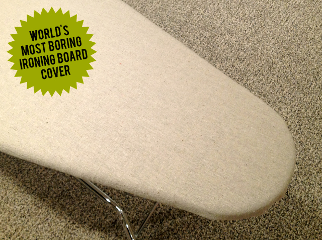 neutral ironing board cover