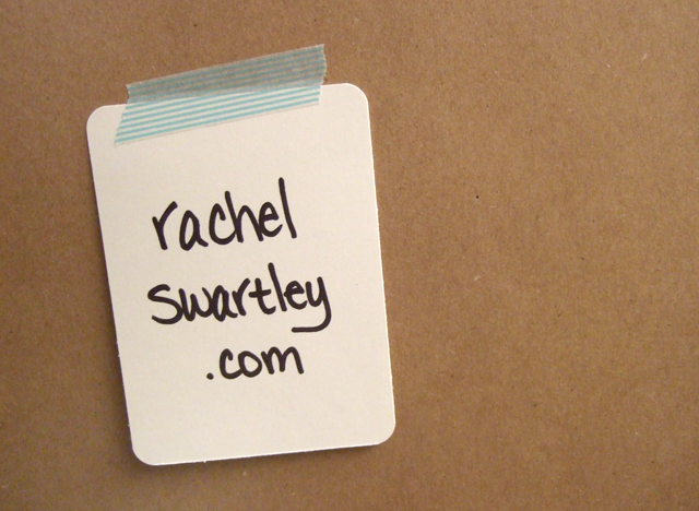 new blog announcement // rachelswartley.com