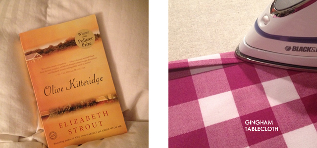 Olive Kitteridge and a gingham tablecloth