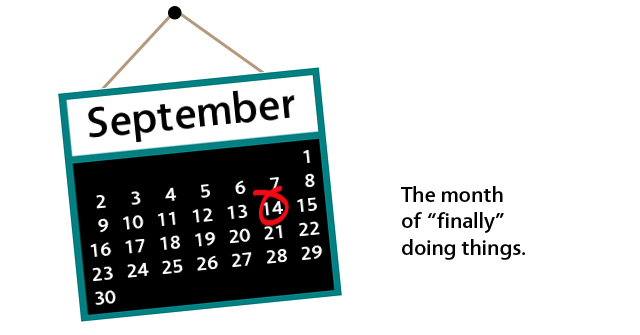 September 14: finally doing things