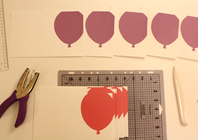 balloon birthday cards - in progress
