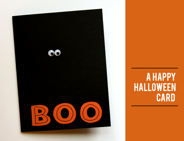 BOO: a happy halloween card