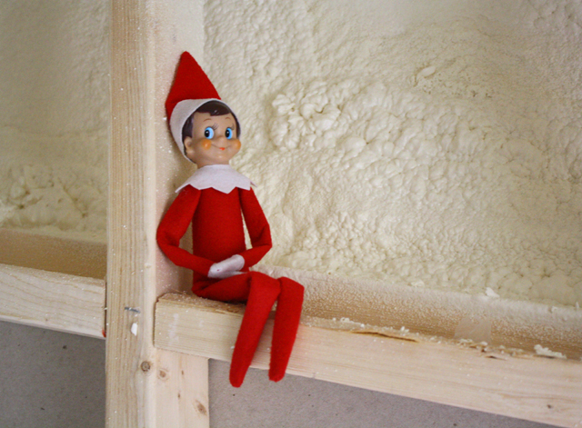 Elf on the Shelf: construction zone