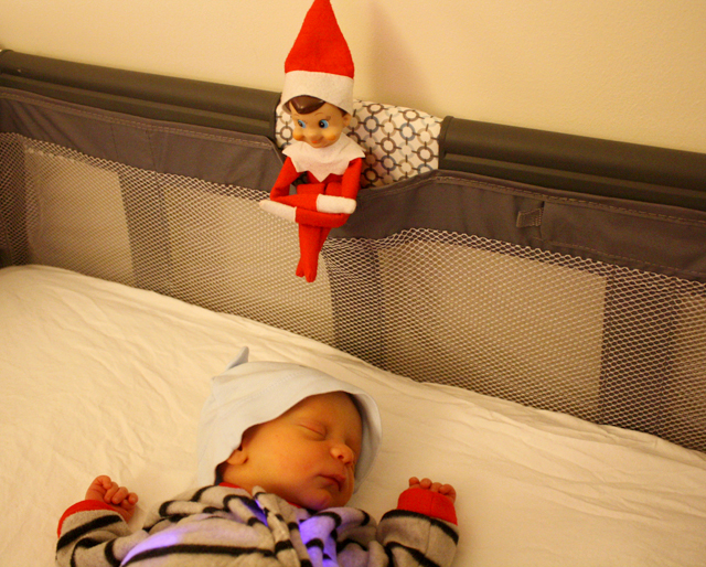 Elf on the Shelf: new baby