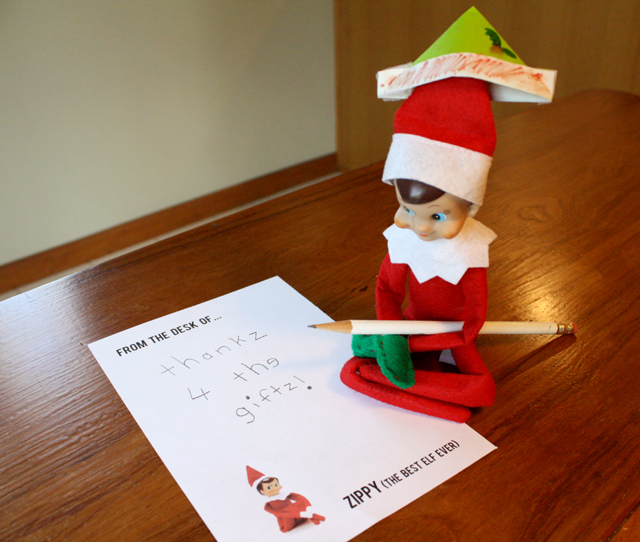 Elf on the Shelf: thanks for the gifts