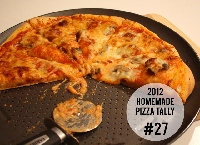 2012 homemade pizza tally: #27