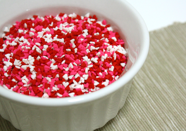 mini heart sprinkles