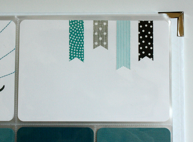 Project Life: washi tape flags