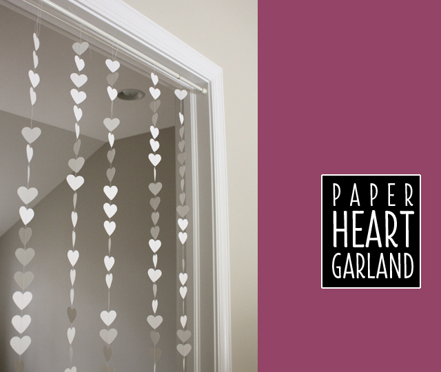 white paper heart garland