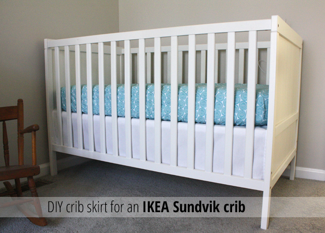 crib skirt for an ikea sundvik crib rachel swartley. Black Bedroom Furniture Sets. Home Design Ideas