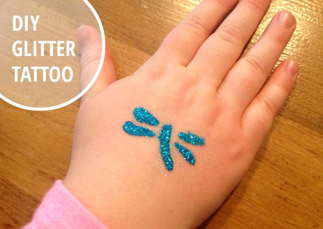 DIY glitter tattoo