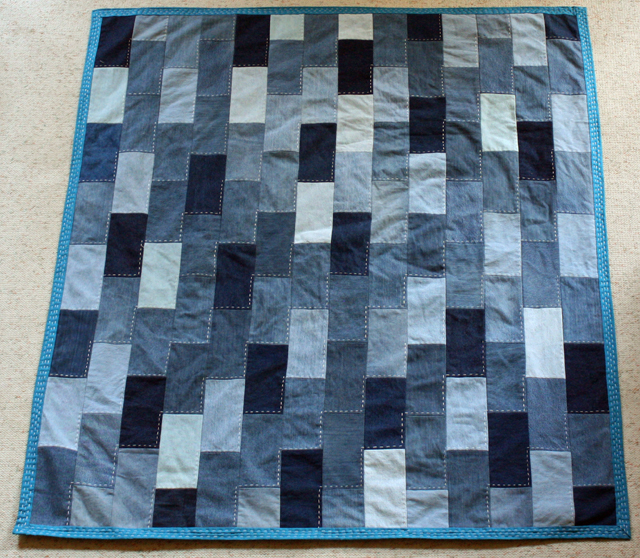 denim quilt brick pattern
