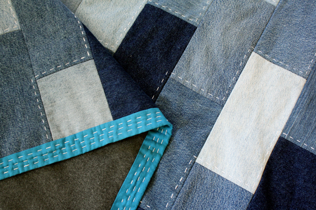 Denim Quilt Made From Old Jeans Rachel Swartley