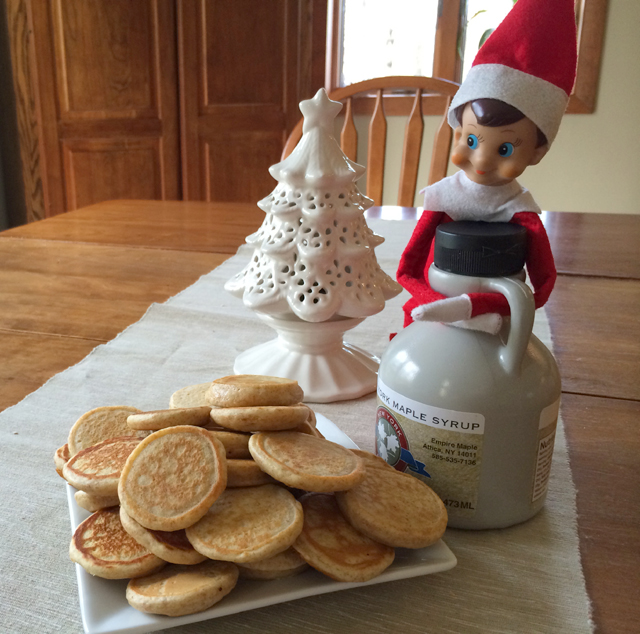 Elf on the Shelf makes pancakes