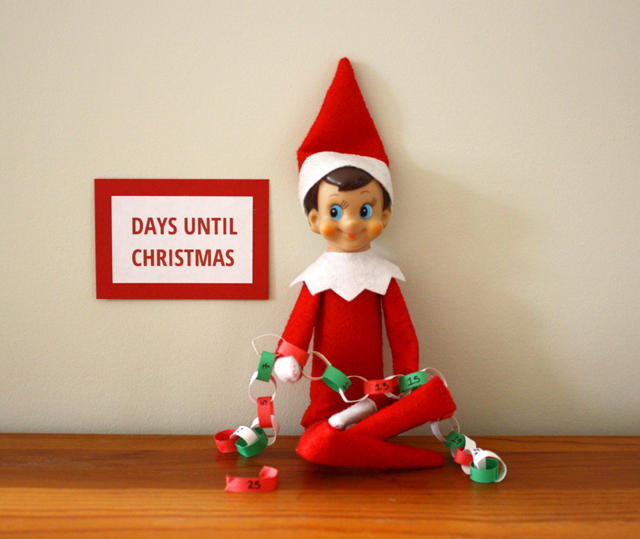 Elf on the Shelf: paper chain countdown