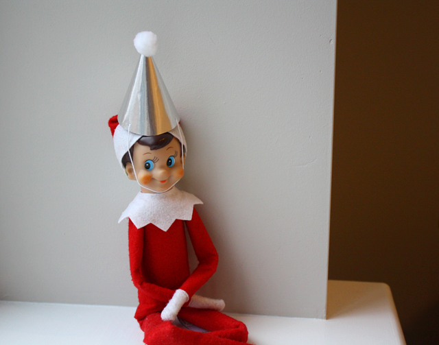 Elf on the Shelf party hat