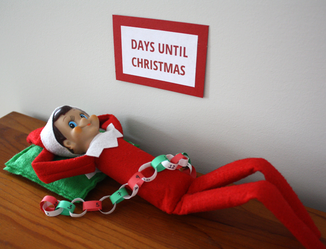 elf on the shelf resting