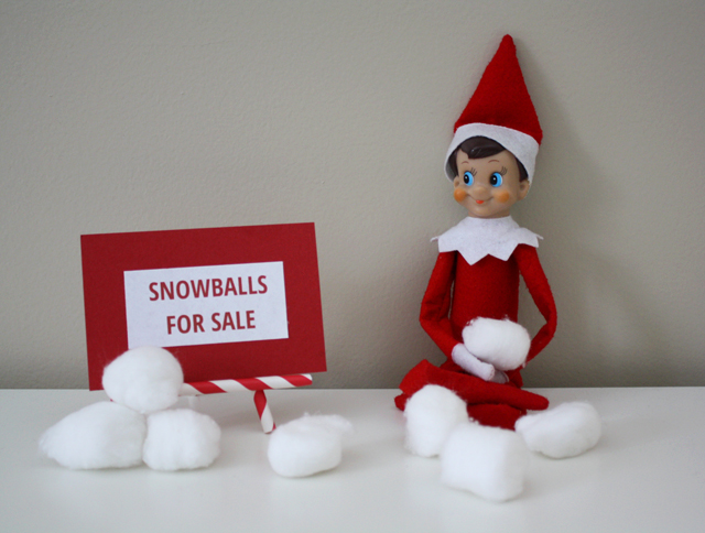 Elf on the Shelf - snowballs for sale