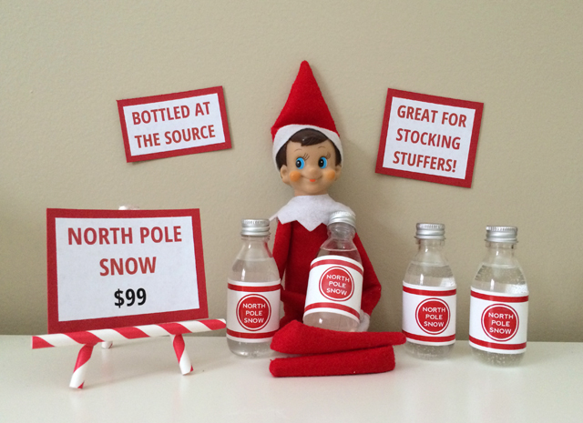 Elf on the Shelf: bottled snow from the North Pole
