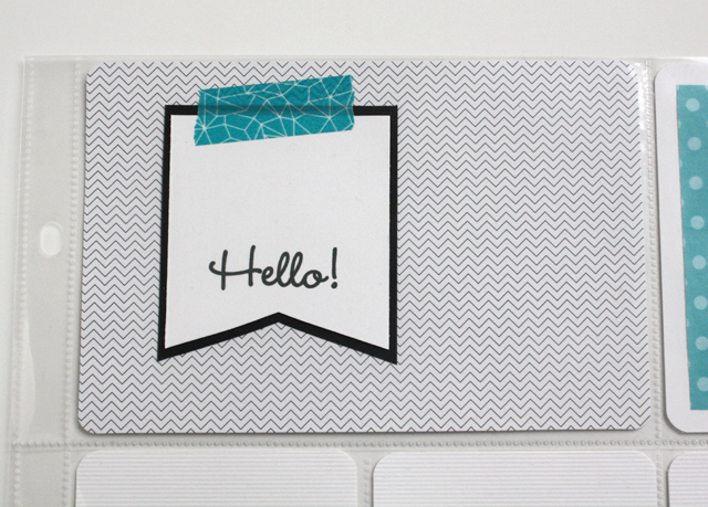 Project Life hello card