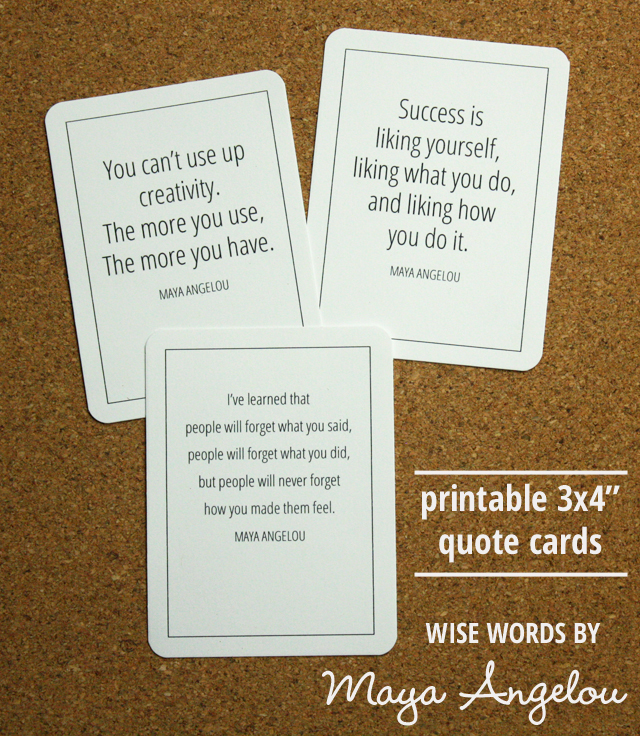printable quote cards: wise words by May