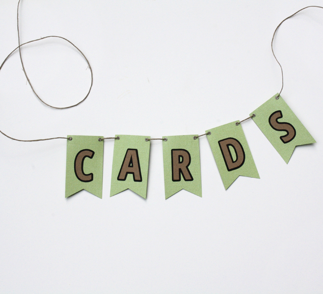 wedding card box bunting