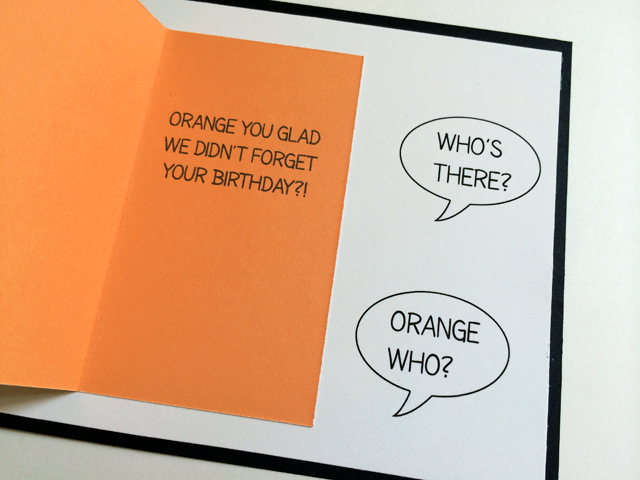 knock-knock joke card - inside
