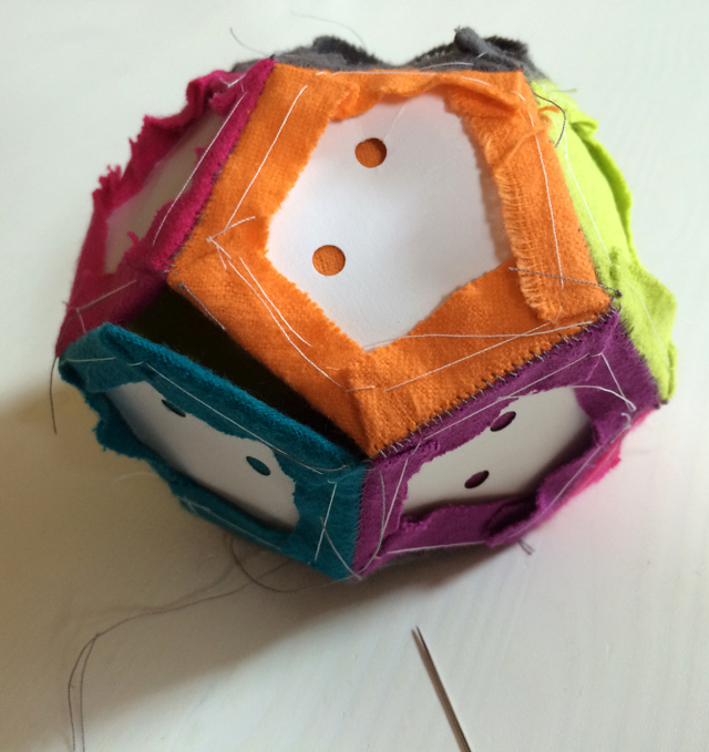 English paper piecing -- patchwork ball